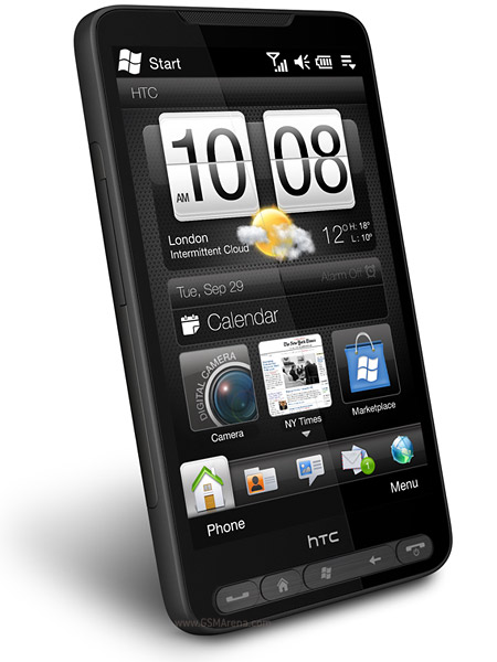 HTC HD2 Windows Phone 6.5 Startbildschirm Sense-Oberfläche