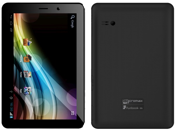 Micromax Funbook 3G P560 - Full phone specifications