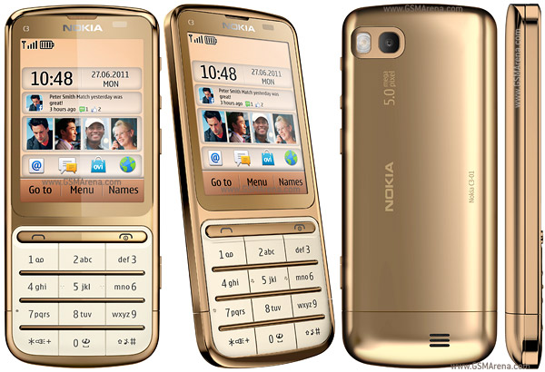 Nokia C3-01 Gold Edition picturesNokia C3 Gold