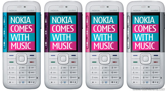 NOKIA. нет в наличии 5310 +2Gb(white-silver,white-blue).