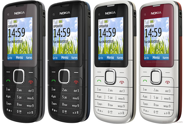Nokia C1-01 pictures, official photos
