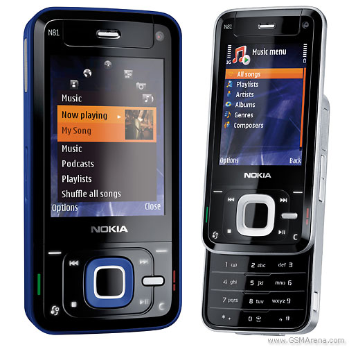Nokia N81 pictures, official photos