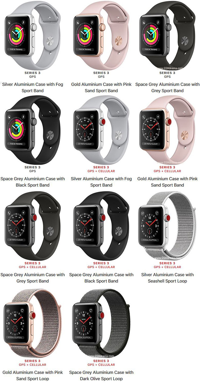 Apple Watch Series 3 Aluminum Pictures Official Photos