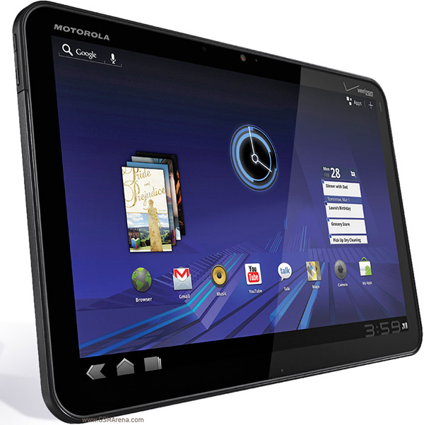 motorola xoom mz604 pictures official photos. Black Bedroom Furniture Sets. Home Design Ideas