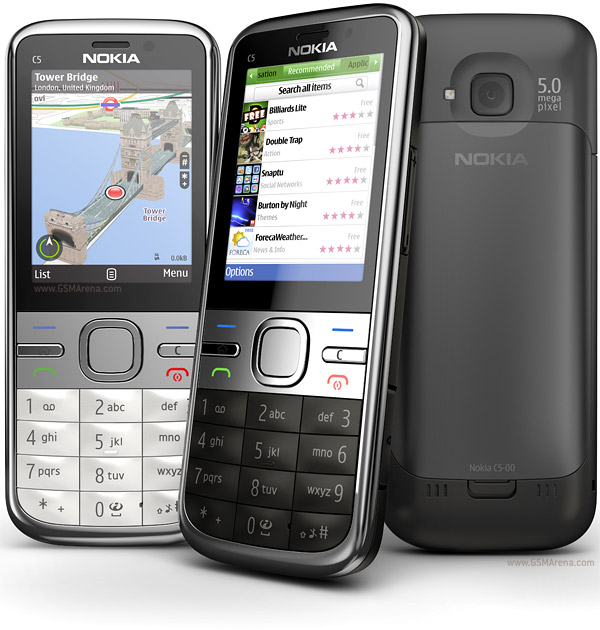Nokia C5 5MP pictures, official photos